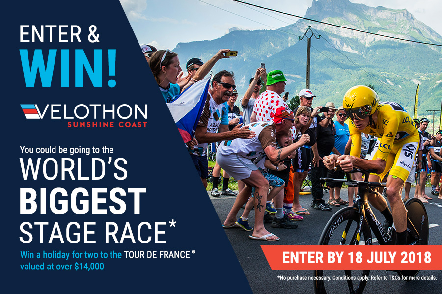 WIN A TRIP FOR 2 TO THE WORLD'S BIGGEST STAGE RACE
